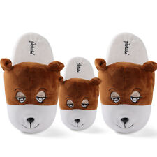Adult Kid's Bear Animal Plush Stuffed Slippers Winter Warm House Indoor Shoes