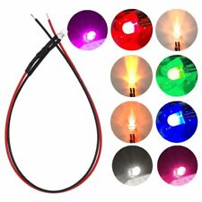 10pcs 3mm 5mm Pre Wired Diffused Led Light Lamp 12V DC 20cm Prewired LED New