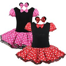 Baby Girls Minnie Mouse Clothes Newborn Halloween Tutu Dress & Headband Outfits
