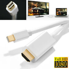 Yellowknife White 6FT Mini DP Thunderbolt to HDMI Adapter Cable Cord 1080PCanada