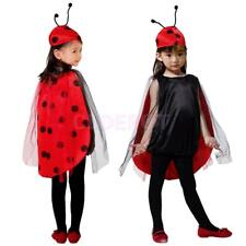 Ladybug Costume Child Ladybird Halloween Party Fancy Dress Animal Insect Outfit