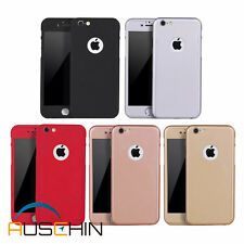 iPhone 7, 7 Plus 360⁰ Full Body Protective Hard Cover Case with Tempered Glass