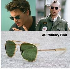 New Fashion Army MILITARY AO Pilot 54mm Sunglasses Brand American Optical Glass