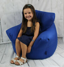 Childrens Bean Bag Chairs 100% Cotton Large Bean Bag Chairs Red Teal or Blue