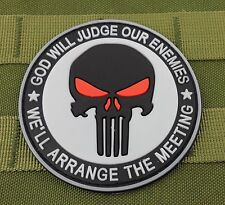 NEW PUNISHER SKULL MILITARY TACTICAL PATCH TAPE ARMY MORALE BADGE WHITE