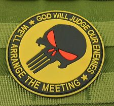 NEW PUNISHER SKULL MILITARY TACTICAL PATCH TAPE ARMY MORALE BADGE YELLOW