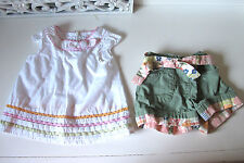 Baby Girls Summer Top Shorts Gymboree 6-12, 12-18 months GREAT! White Tank