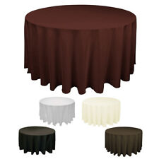 New Tablecloth Round Table Cover for Banquet Wedding Party Decoration 90''