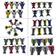 Universal Motorcycle Rubber Gas Tank Pad Fish Bone Protector Decal Sticker 1 Pcs