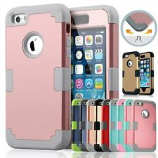 Hybrid Protect Shockproof Rugged Rubber Hard Case Cover Shell For iPhone 5&5s SE