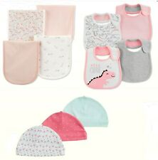 NWT Carter's Baby Girl 2 Pk Swaddle Blankets or 4 Pk Bib Set or 3 Pk Caps/Hats