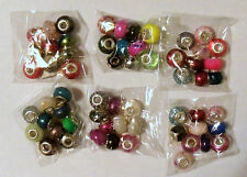 Mixed Variety ~ Resin European Charm Bracelet Beads-10 Pieces~Choose from 6 pkgs