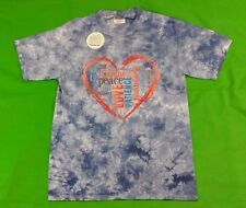 New Christian 100% Cotton Hand Tie Dyed T-Shirt Fruit of the Spirit Unisex Blue
