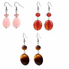 Sterling Silver your choice of gemstone Fancy Dangle Earring