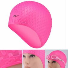 80g Silicone swimming cap Adult Long Hair Swim caps ear protection Spa Caps
