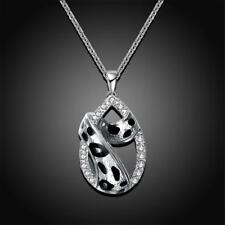 Women Fashion Retro Vintage Hollow Leopard Waterdrop Pendant Necklace Chain