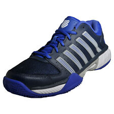 K Swiss Express HB Leather Mens Classic Casual Tennis Court Shoes Trainers Blue