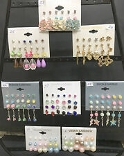 Fashion Earrings Post Style Sets Studs Drops Dangles - Buy 2 Sets Get 1 Set FREE