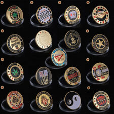 WR Metal Casino Poker Coin Cards Guard Protector Card Games Lucky Item Gift Idea
