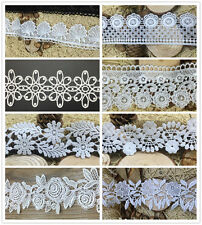 2yards Vintage Embroidered Lace Trim Ribbon Appliques DIY Sewing Craft