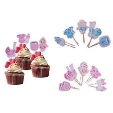 20pcs/Pack Baby Boy Girl Cupcake Picks Cake Toppers Party Favors Decoration