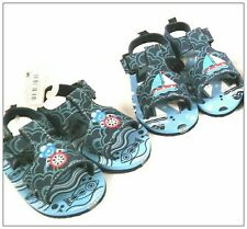 Baby boy toddler nautical style summer sandals with velcro 15-18-21-24 months