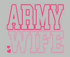 United States Armed Forces / Military WIFE / Vinyl Decal Window Sticker Graphics