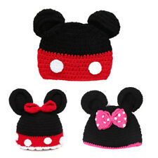 Minnie Mickey Mouse Hat Baby Boy Girl Crochet Knit Winter Beanie Cap Photo Props