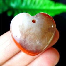 Charming Natural South Red Agate Peach Heart Pendant Bead 25*25*7mm DF74141