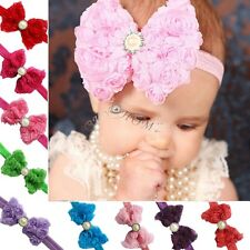 Newborn Toddler Kids Baby Girls Flower Headband Hair Band Headwear Accessories