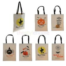 MagiDeal Women Shoulder Bag Handbag Canvas Tote Shopping Bag Halloween Favor Bag