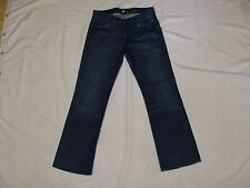 7 FOR ALL MANKIND DARK DISTRESSED WASH Bootcut Leg JEANS Mens 32/32 32 x 32