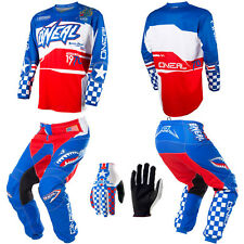 ONeal Element Afterburner motocross MX dirtbike gear - Jersey Pants Gloves Combo