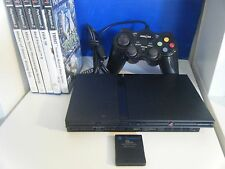 SONY PLAYSTATION 2 SLIM BUNDLE CONSOLE CONTROLLER MEMORY CARD AND 5 GAMES