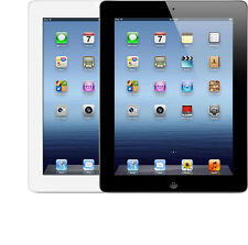 "Apple iPad 3rd 3 Gen 16GB 32GB 64GB WiFi Only 9.7"" Tablet Black White"