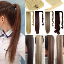 Wrap Around Clip In Ponytail Pony Tail Hair Extensions Extention Brown Blonde T8