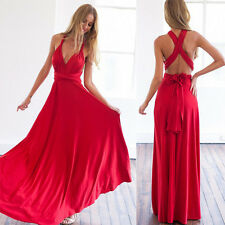 Sexy Long Women Lace Prom Evening Party Cocktail Bridesmaid Wedding Boho Dress