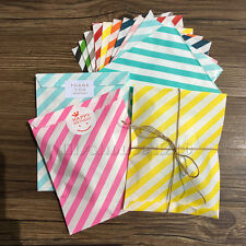 25Pcs Stripe Paper Party Candy Bags Stickers / 10M Strings Wedding Favour Bags