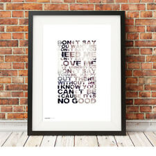 DEPECHE MODE ❤ It's No Good ❤ song lyric typography poster art Print 5 sizes #5