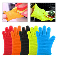 1 Silicone Glove Heat Resistant Pot Oven Holder Baking BBQ Cooking Mitt Kitchen