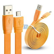 3/6/10ft Micro USB Flat Noodle Charger Power Data Sync Cable Samsung Galaxy S4