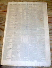 1791 display newspaper WASHINGTON DC established as the new FEDERAL CAPITOL CITY