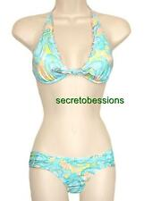 Victoria's Secret Pacific Paisley High-tie Halter Side Ruched Top Bottom or Set