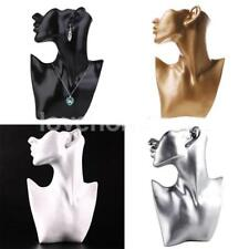 Resin Necklace Display Earring Bust Decor Jewelry Holder Stand Body Mannequin