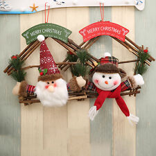 Welcome Snowman Santa Claus Christmas Decorations Door Hanging Party Ornaments
