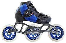 ATOM SKATES - LUIGINO KID'S BLUE CHALLENGE - 3 WHEEL INLINE SPEED SKATE PACKAGE