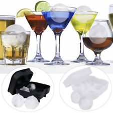 Black/White Ice Cube Ball Maker Mold Round Whiskey Party Tray Round Bar Silicone
