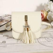 New Fashion Women Synthetic Leather Tassel Shoulder Bag Saddle Bag Handbag LM