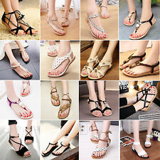 Bohemia Womens Flat Sandals Beach Thong Shoes Flip Flops Summer Slippers Casual