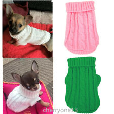Small yorkie Dog Clothes Knit Sweater Winter Hoodie Coat for chihuahua Teacup